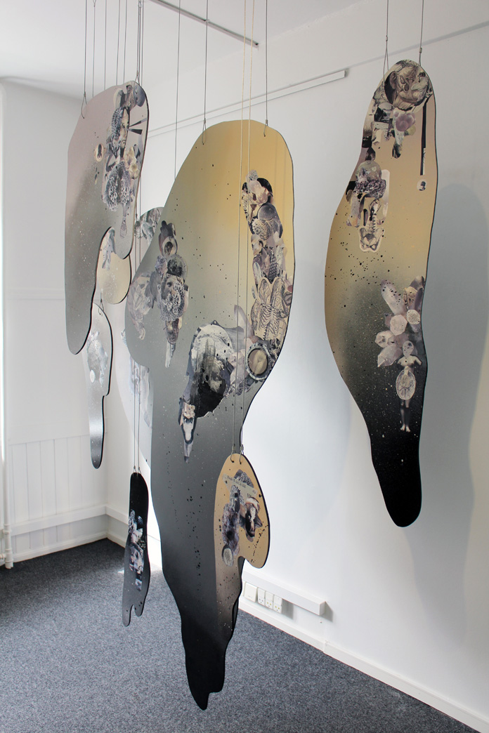 7ruthcronefoster-collage-installation-allisone-paper-wood