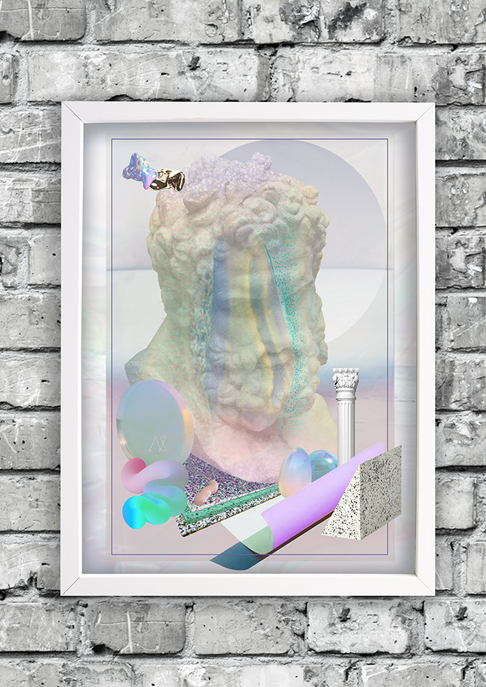 Bubblegum-frame-ruthcronefoster-collage-graphic-collagelab-digitalcollage small