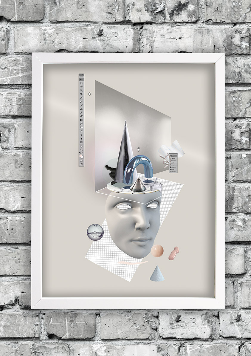 Floating-frame-ruthcronefoster-collage-graphic-collagelab-digitalcollage
