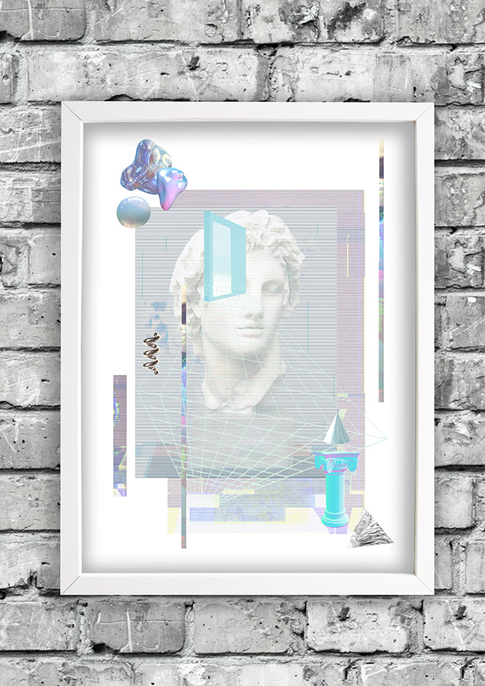 Glith art-frame-ruthcronefoster-collage-graphic-collagelab-digitalcollage-small